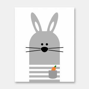 Bunny wall art print