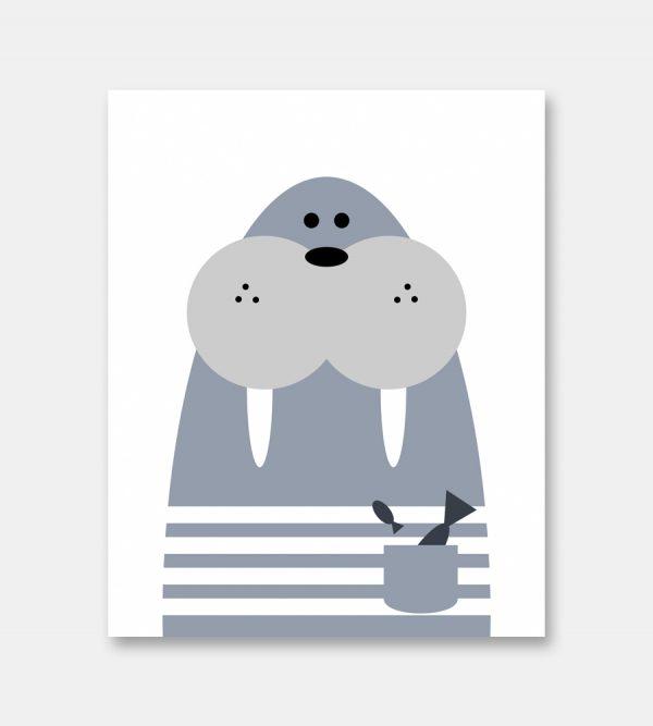 Walrus print