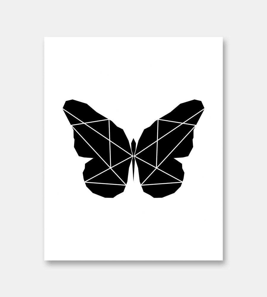 Butterfly Print Modern Minimalist Art Limitation Free
