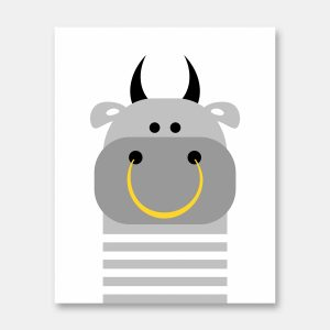 Bull print