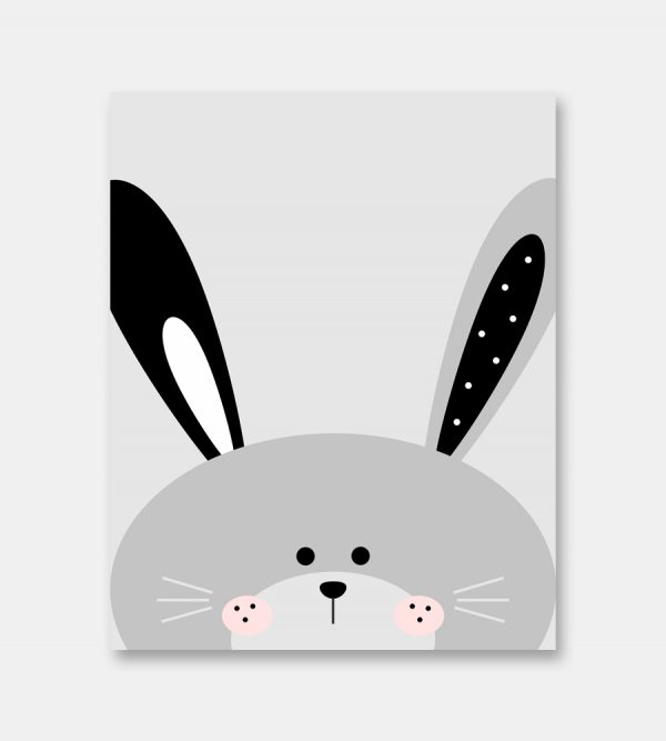 Hello bunny print