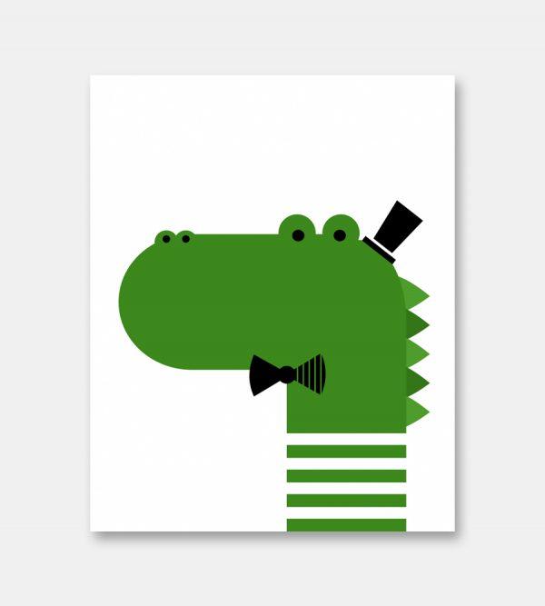 Crocodile print
