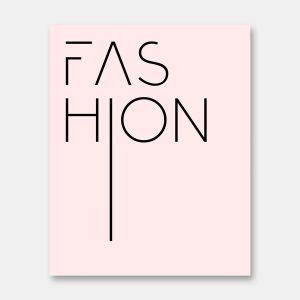 Pink fashion print
