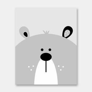 Hello bear print