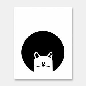 Peekaboo Cat print
