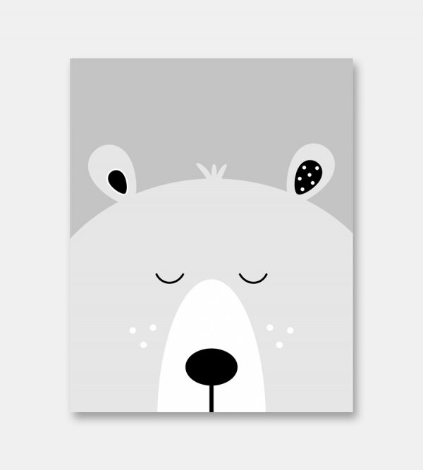 Sleepy bear print