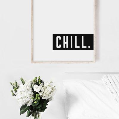 bedroom decor chill print
