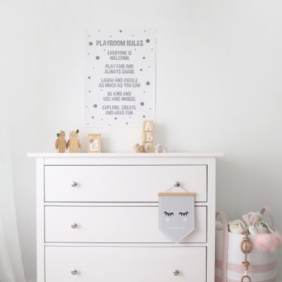 playroom rules wall art